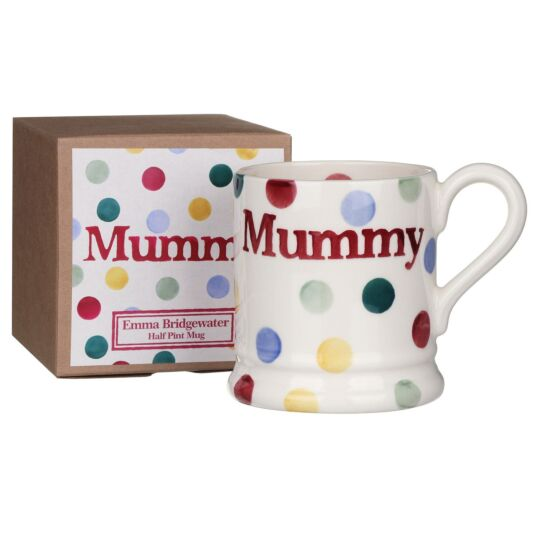Polka Dot Mummy Half Pint Boxed Mug