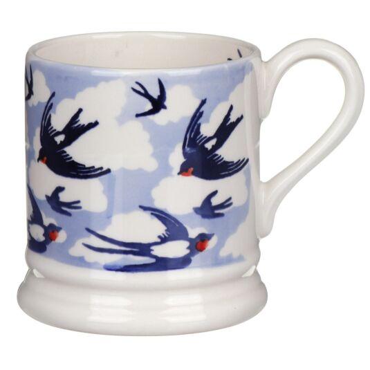 Blue Swallows Half Pint Mug