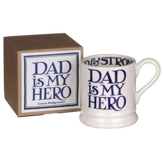 Blue Toast Dad is My Hero Half Pint Boxed Mug