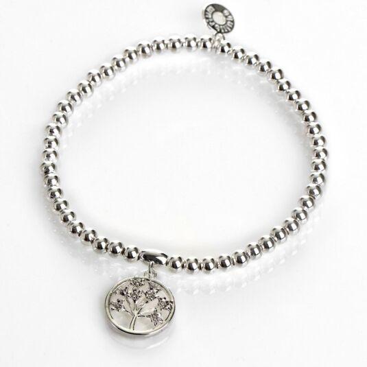 Botanical Silver-Plated Agapanthus Bracelet