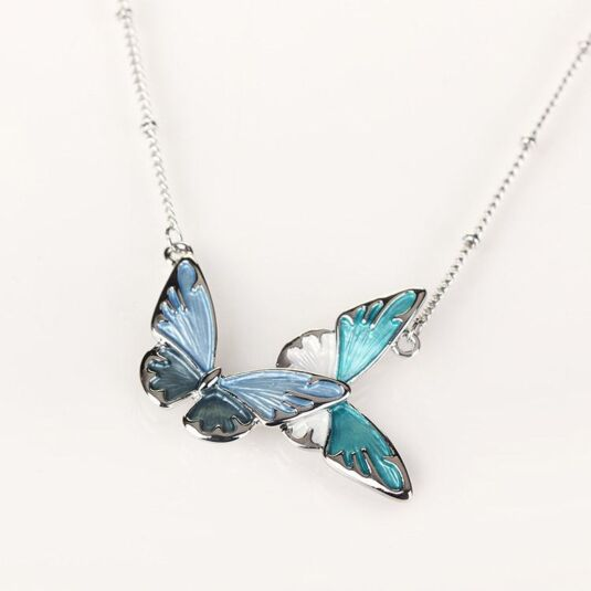 Marine Tones Butterfly Necklace