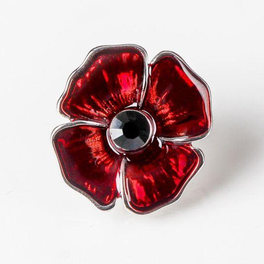 Delicate Poppy Pin Brooch