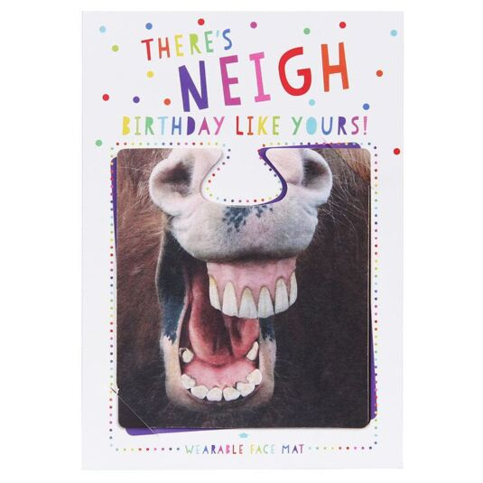 There's Neigh Birthday Like Yours! Face Mat Card