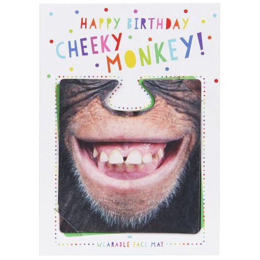 Happy Birthday Cheeky Monkey! Face Mat Card