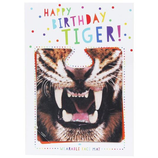 Happy Birthday Tiger! Face Mat Card