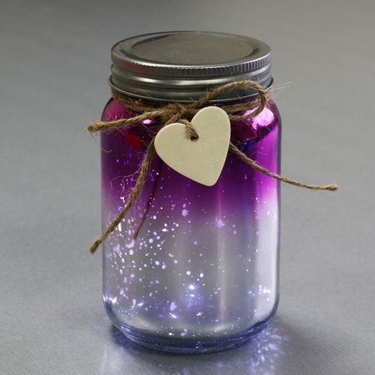 LED Two Tone Firefly Jar Pink & Silver Limited Edition