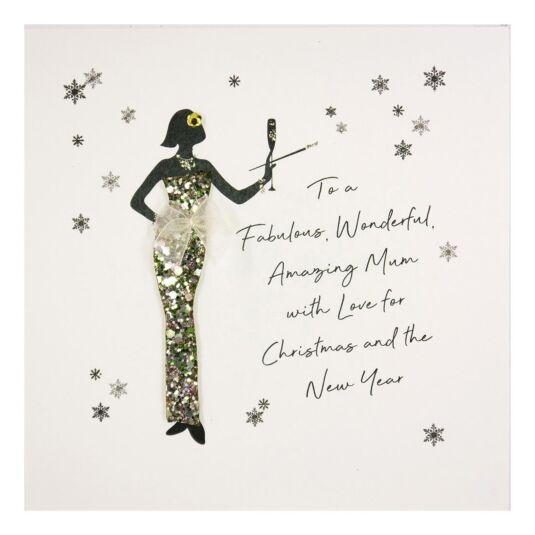 'To A Fabulous, Wonderful Mum' Christmas Card
