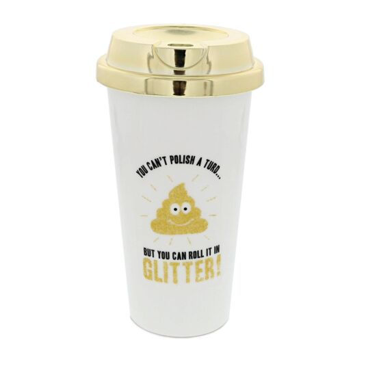 Glitter Poo Travel Mug
