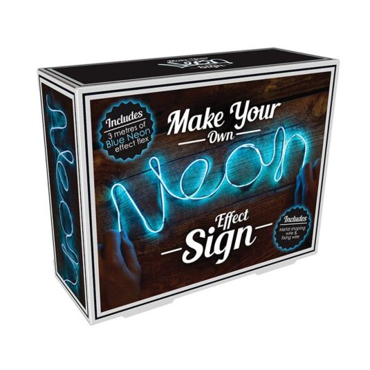 Make Your Own Neon Effect Sign Blue Campus Gifts