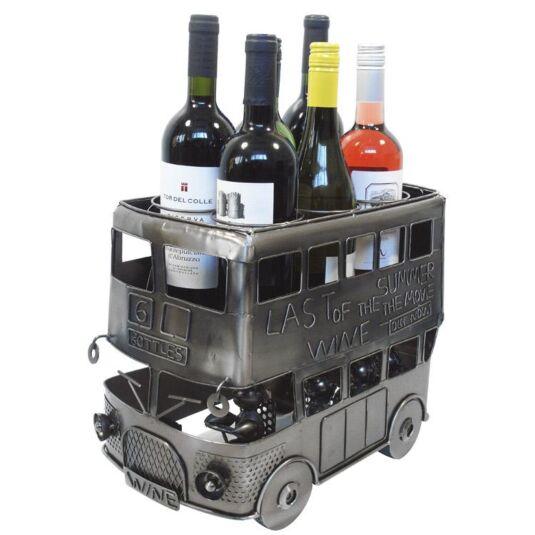 Double Decker Bus Wine Rack