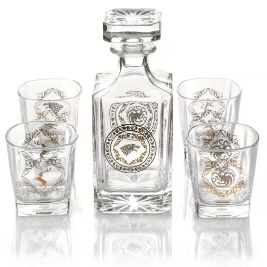 Premium Tumblers & Decanter Set