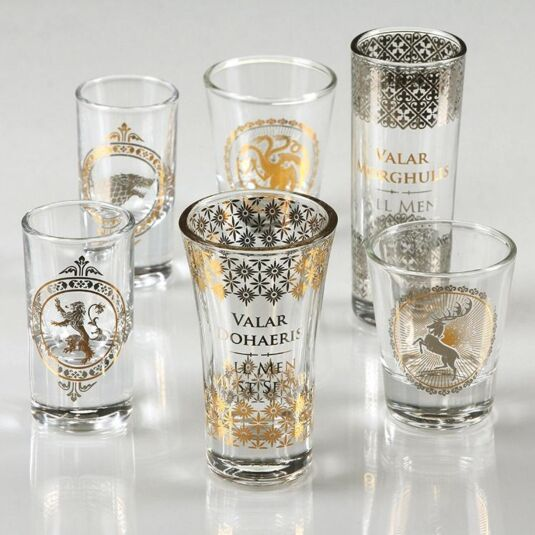 Set of Six Premium Collectable Shot Glasses