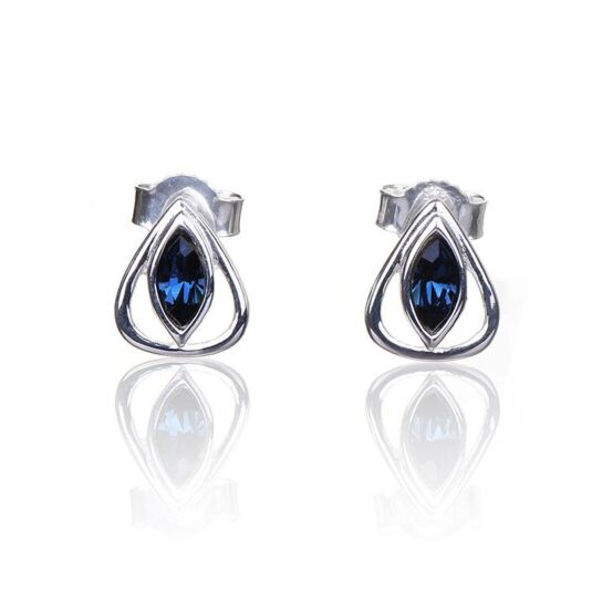 Montana Crystal Teardrop Boxed Silver Stud Earrings
