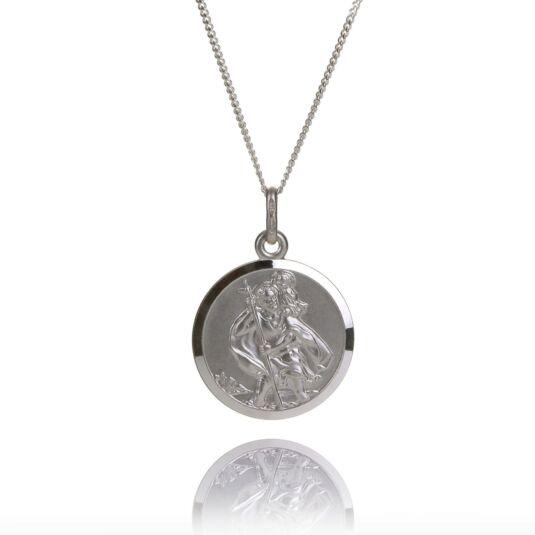 Silver St Christopher – Patron Saint of Travellers Pendant