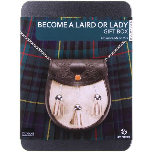 Become a Laird or Lady Gift Experience Tin