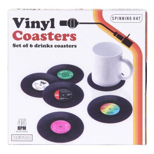 Boxed Vinyl Coasters