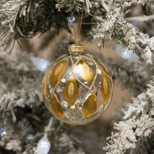 Gold Jewelled Christmas Bauble