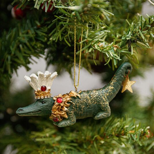 Resin Crocodile Tree Decoration