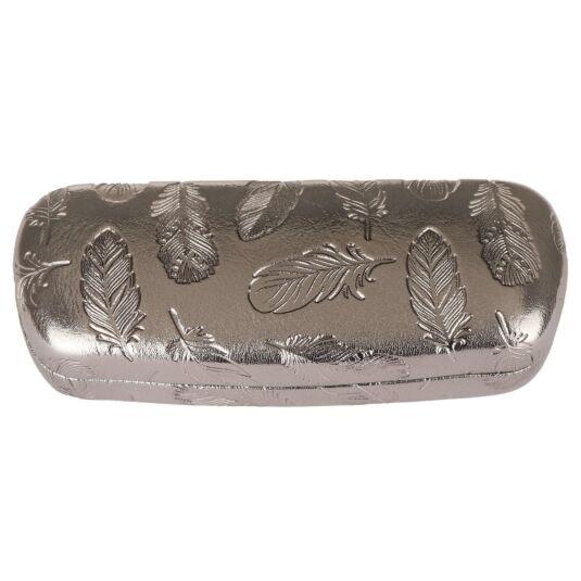 Metallic Feathers Glasses Case