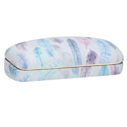 Pastel Feathers Glasses Case