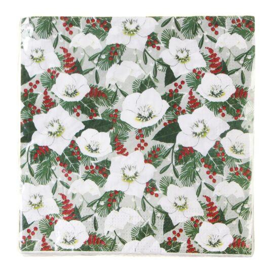 Christmas Rose Paper Napkins