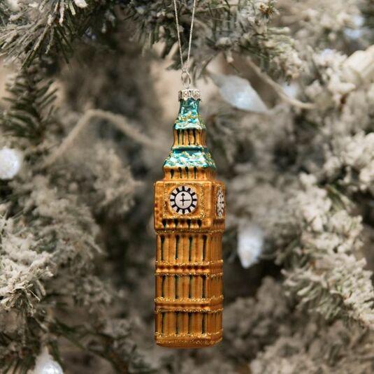 London 'Big Ben' Glass Tree Decoration