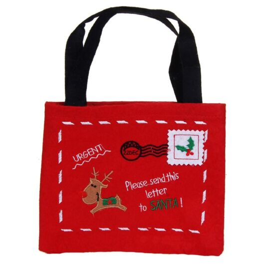 Felt 'Letter To Santa' Gift Bag
