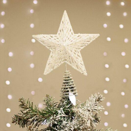Iridescent Glitter Star Tree Topper
