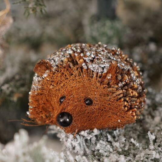 Large Twig Hedgehog With Glitter