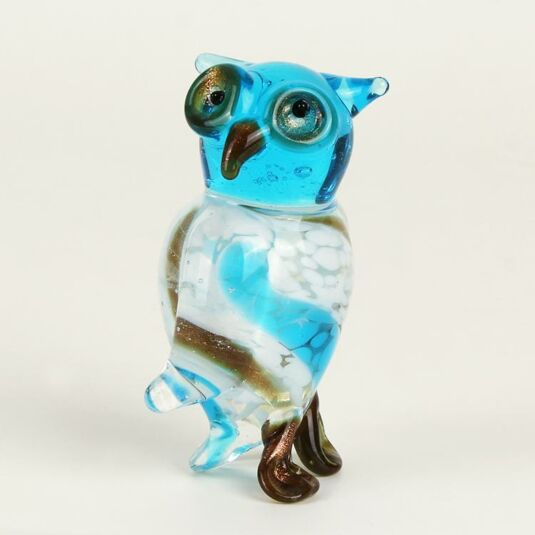 Glass Animal Blue Owl