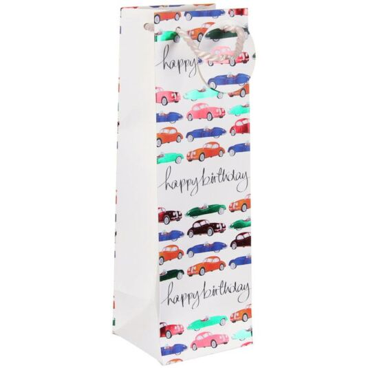 Cars Happy Birthday Bottle Gift Bag