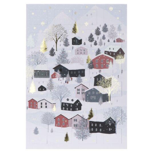 Winter Houses Pizazz Advent Calendar Card