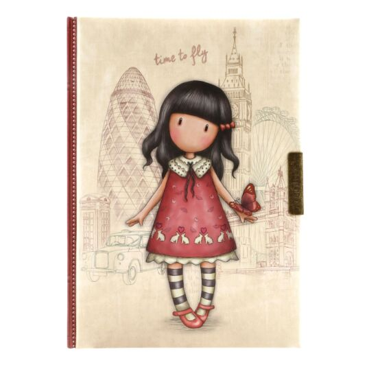 Cityscape Time To Fly Lockable Notebook
