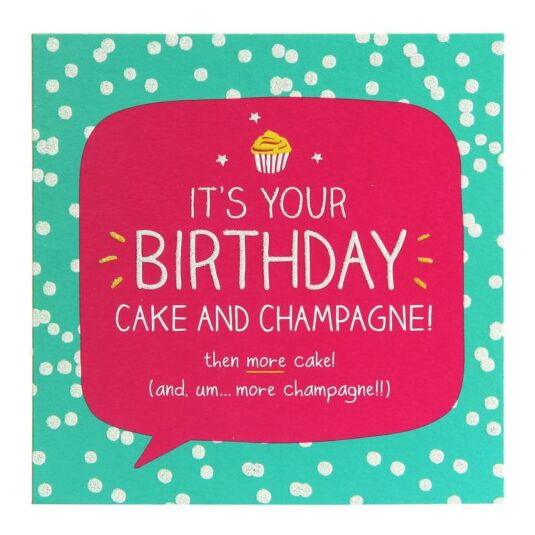 Birthday Cake And Champagne! Card