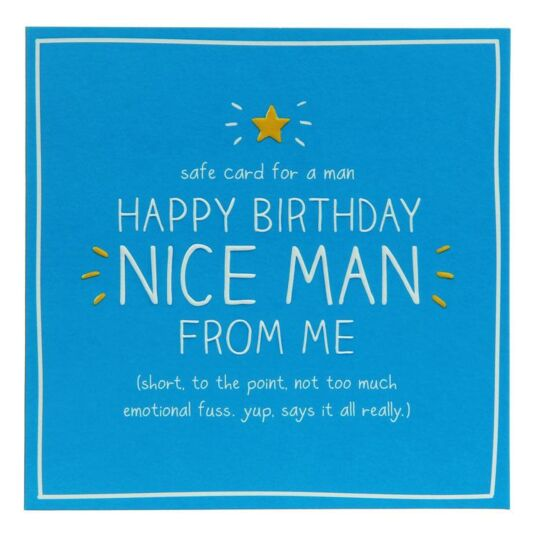 Happy Birthday Nice Man Card