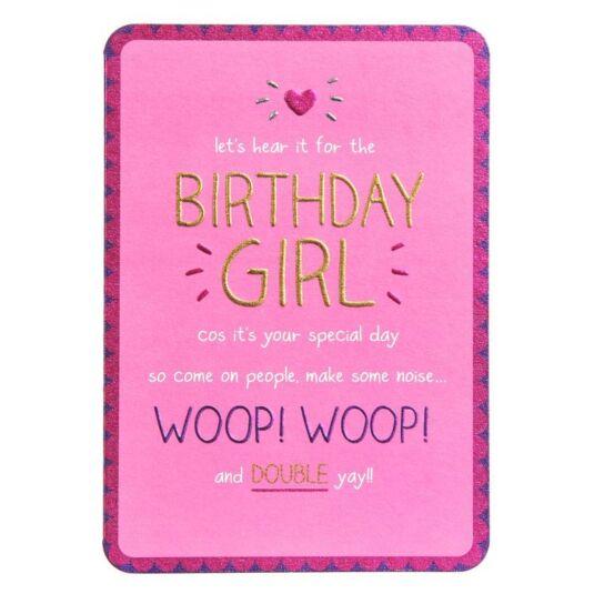 Birthday Girl Woop Woop! Card