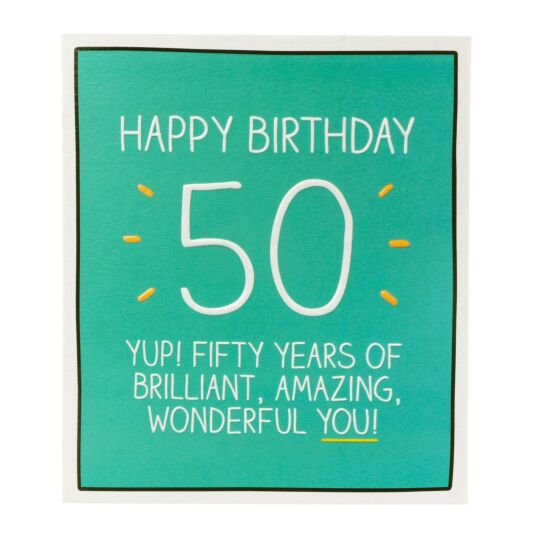 '50 Years of Wonderful You' Card