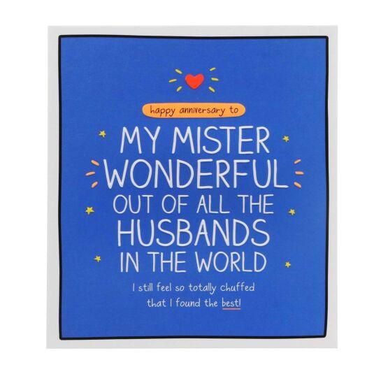 Husband 'Mister Wonderful' Anniversary Card