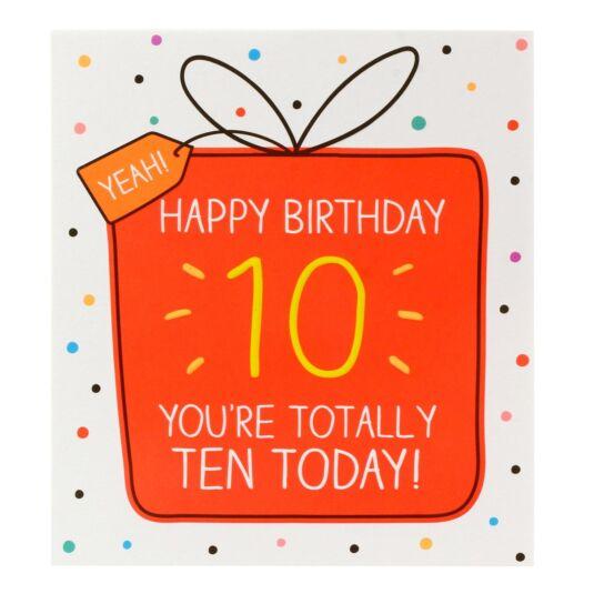 'Totally Ten Today' Card