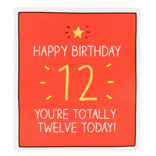'You're Totally Twelve Today!' Card