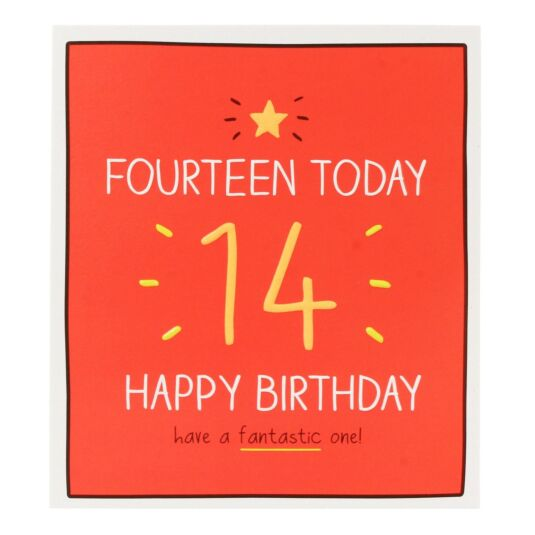 '14 Today Happy Birthday!' Card
