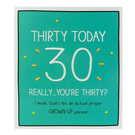 '30 Today' Card