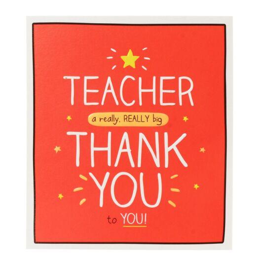 'Teacher a Really Really Big Thank You' Card