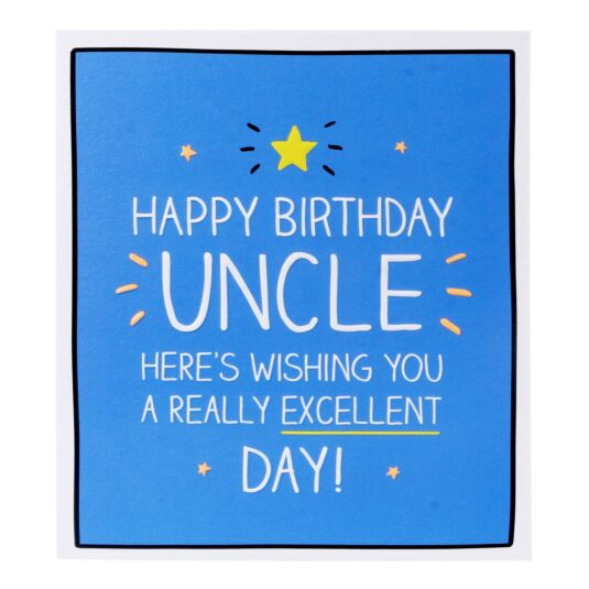 'Happy Birthday Uncle' Card