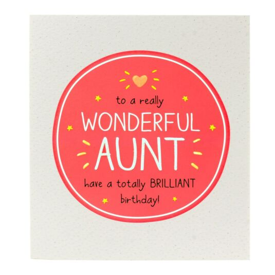'Wonderful Aunt Have a Brilliant Birthday' Card