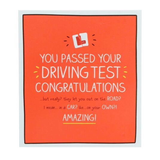Driving Test 'Let You On The Road?' Card