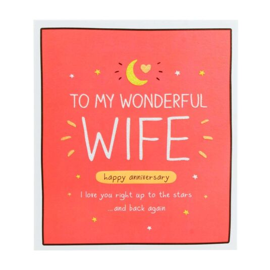 Wife 'Love You To The Stars' Anniversary Card