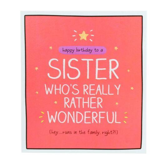 Sister 'Rather Wonderful' Card