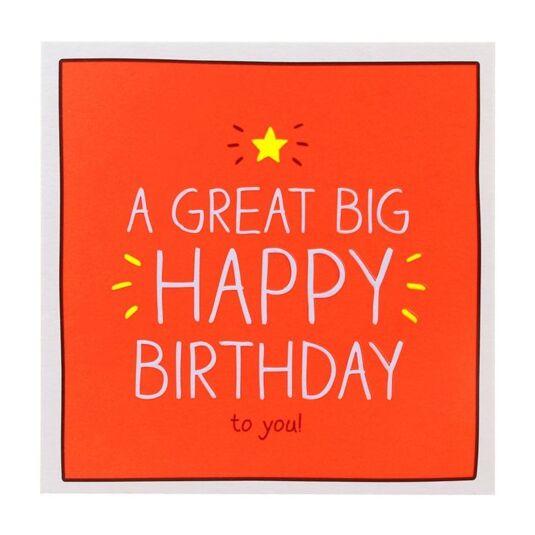 'A Great Big Happy Birthday' Birthday Card