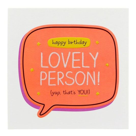 'Lovely Person' Birthday Card